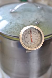 Congratulations! You've made it to 100 degrees, now it's time to drain the curds.